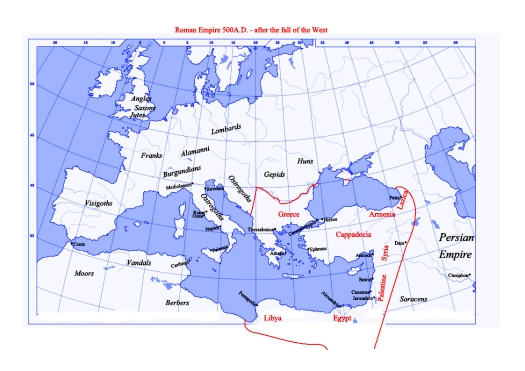 Roman Empire 500AD
